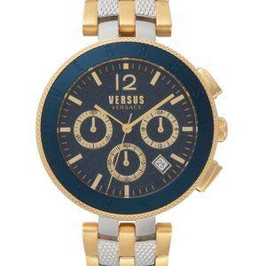 Versace Versus 44mm Gold Plated Watch